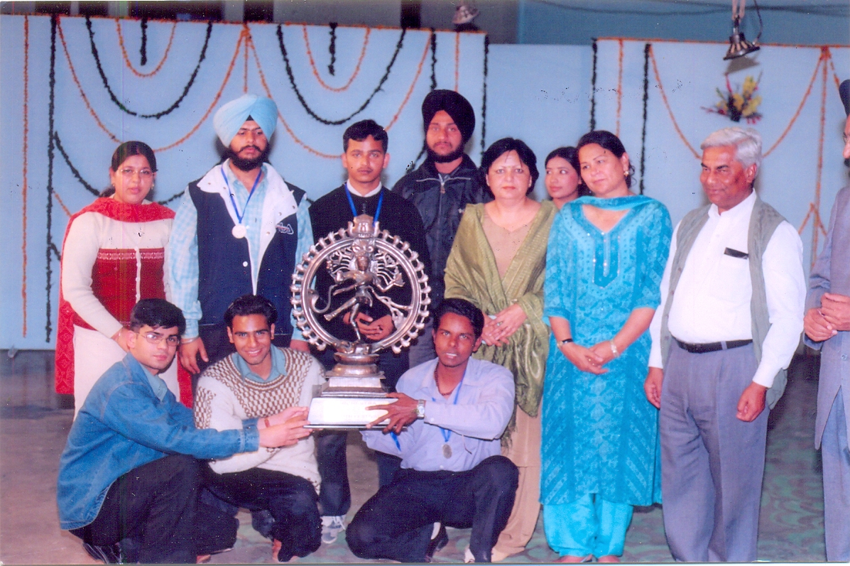 Winner Team of Classicla Orchestra in Inter-Zonal Youth Festival held at Pbi. Univ Patiala